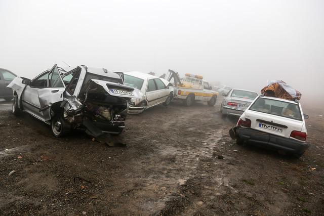تصادف در مه